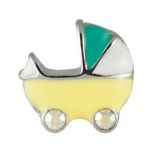 Picture of Yellow Baby Carriage Charm